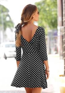 LASCANA Kleid schwarz / weiß