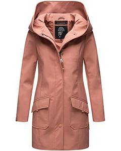 Marikoo Damen Winter Regenjacke Softshell Mantel Business Raincoat Wintermantel Parka XS-XXL Mayleen (M, Terracotta)