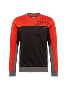 BOSS Sweatshirt Saltech 10211949 01 graumeliert / orangerot / schwarz