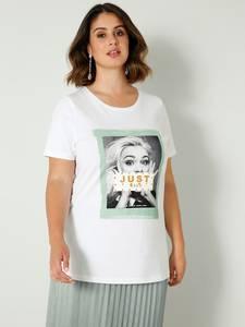 Shirt weiß/jade Sara Lindholm