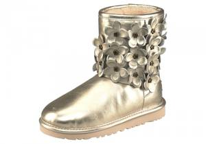 UGG Stiefel »Classic Short Flora« gold