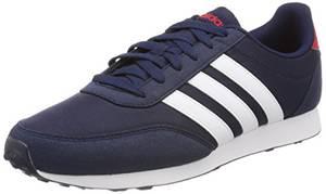 adidas Herren V Racer 2.0 CG5706 Gymnastikschuhe, Blau (Collegiate Navy/FTWR White/Scarlet), 43 1/3 EU