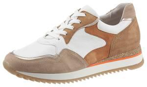 GABOR Sneaker weiß / sand / karamell / camel