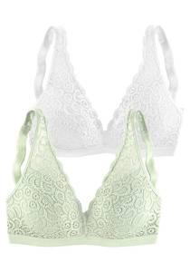 PETITE FLEUR Bralette-BH pastellgrün / weiß