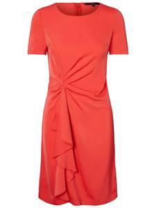 VERO MODA Feminines Kleid mit kurzen Ärmeln rot