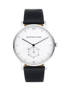 Kapten & Son Uhr ''Heritage Silver'' silber / schwarz