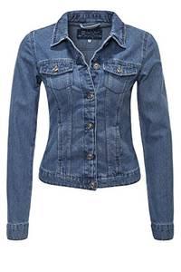 ONLY Damen Jeansjacke Übergangsjacke Denim Jacke Blouson (L, Medium Blue Denim)