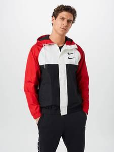 Nike Sportswear Jacke '' SWOOSH'' weiß / schwarz / rot