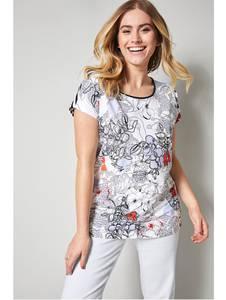 Shirt weiß/blau Sara Lindholm