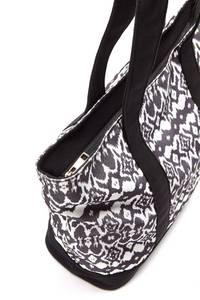 LASCANA Strandtasche schwarz / weiß
