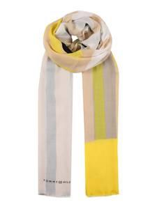TOMMY HILFIGER Schal gelb / beige / puder / grau