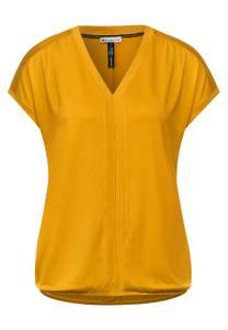 Street One Damen T-Shirt im Seiden Look in Gelb