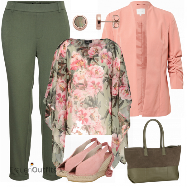 Floraler Businesslook FrauenOutfits.de