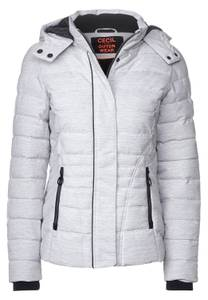 CECIL Damen Winterjacke in Melange-Optik in Weiß