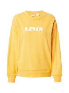 LEVI''S Sweatshirt weiß / gelb