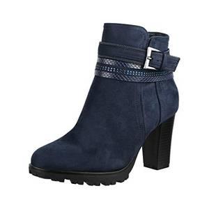 Elara Damen Stiefelette Ankle Boots Chunkyrayan 2018 C292-1-Dk.Blue-38