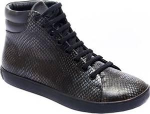 Comfortfusse Leder-Sneakers in Grau  Größe 37