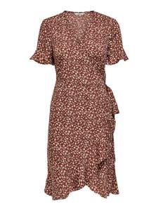 ONLY Kleid ''ONLOLIVIA'' rot / weiß