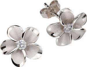 FIRETTI Paar Ohrstecker »Blume/Blüte« mit Zirkonia silber