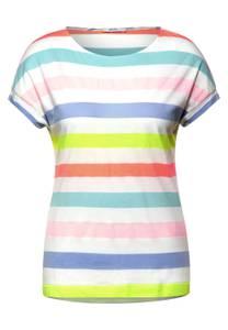 T-shirt met gestreept patroon - pure off white