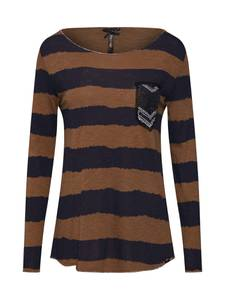 Key Largo Shirt JENNY dunkelblau / braun / schwarz / silber