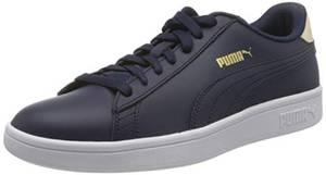 Puma Unisex-Erwachsene Smash v2 L Sneaker, Blau (Peacoat-Tapioca Team Gold White), 43 EU