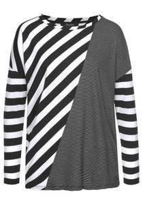 Aniston CASUAL Shirt schwarz / weiß
