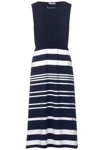 Maxi-jurk met strepen - dark foggy blue