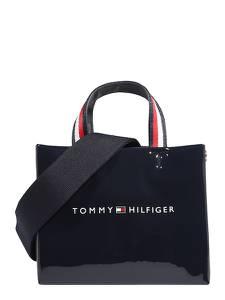 TOMMY HILFIGER Shopper dunkelblau / weiß