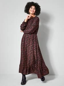 Web-Kleid schwarz/haselnuss Angel of Style