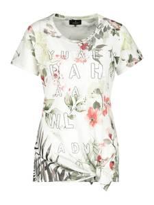monari T-Shirt hellgrün / dunkelgrün / weiß / rosa