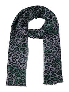 Zwillingsherz Schal grün / schwarz / grau