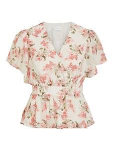 VILA Shirt ''VIKATHRYN'' creme / rosa / oliv / melone