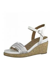 TAMARIS Sandale silber / offwhite
