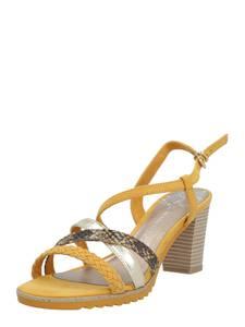 MARCO TOZZI Sandale gelb / braun