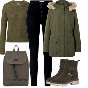 Winterliches   Abend Outfit FrauenOutfits.ch
