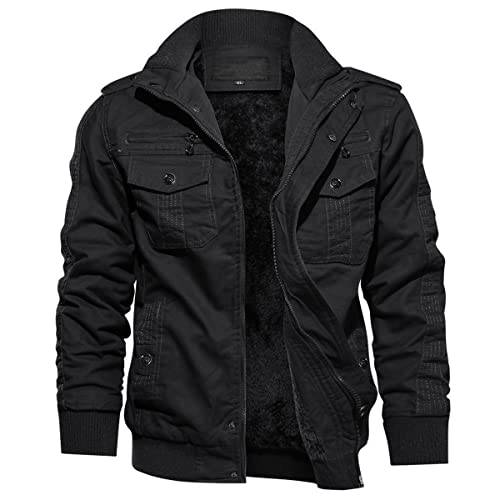 Herren Fleece Jacke mit Reißverschluss Übergangsjacke Herbstjacke
