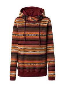 Iriedaily Sweatshirt ''Sekani Turtle'' bordeaux / dunkelorange / beige