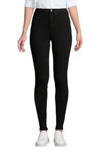 High Waist Leggings-Jeans mit Stretch, Damen, Größe: XS Normal, Schwarz, Denim, by Lands'' End, Schwarz