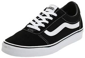 Vans Damen Ward Suede/Canvas Sneaker, Schwarz ((Suede/Canvas) Black/White Iju), 38 EU