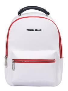 Tommy Jeans Rucksack weiß / navy / rot