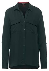 Street One Damen Shirt-Bluse mit Brusttaschen in Grün