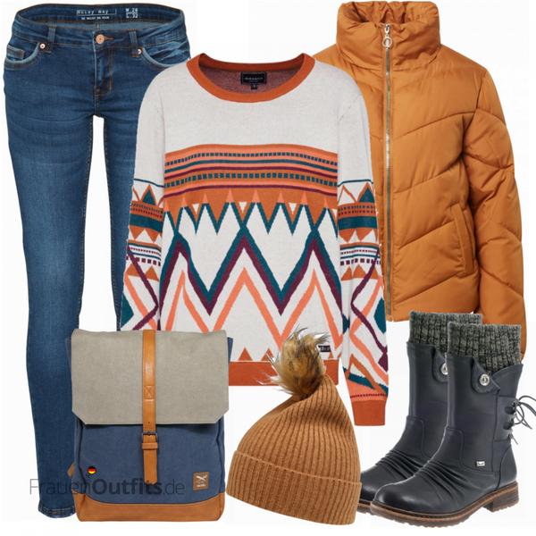 Winterliches Freizeit Outfit FrauenOutfits.de