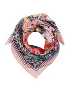 CODELLO Schal grau / rosa / weiß / orangerot