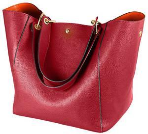 SQLP Taschen Handtaschen Damen Einfach Henkel Tasche Elegant wasserdichte Handtasche Kunstleder Schultertasche (Rot)