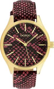 OOZOO Uhr ''C10433'' weinrot / gold