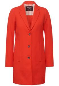 Mantel in lange blazerstijl - papaya orange