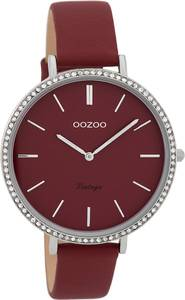 OOZOO Uhr ''C9802'' weinrot / silber