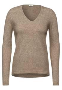 CECIL Damen Kuscheliger Strick-Pullover in Braun