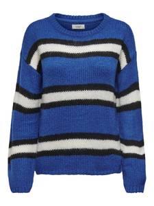 JACQUELINE de YONG Pullover ''Mara'' blau / schwarz / weiß